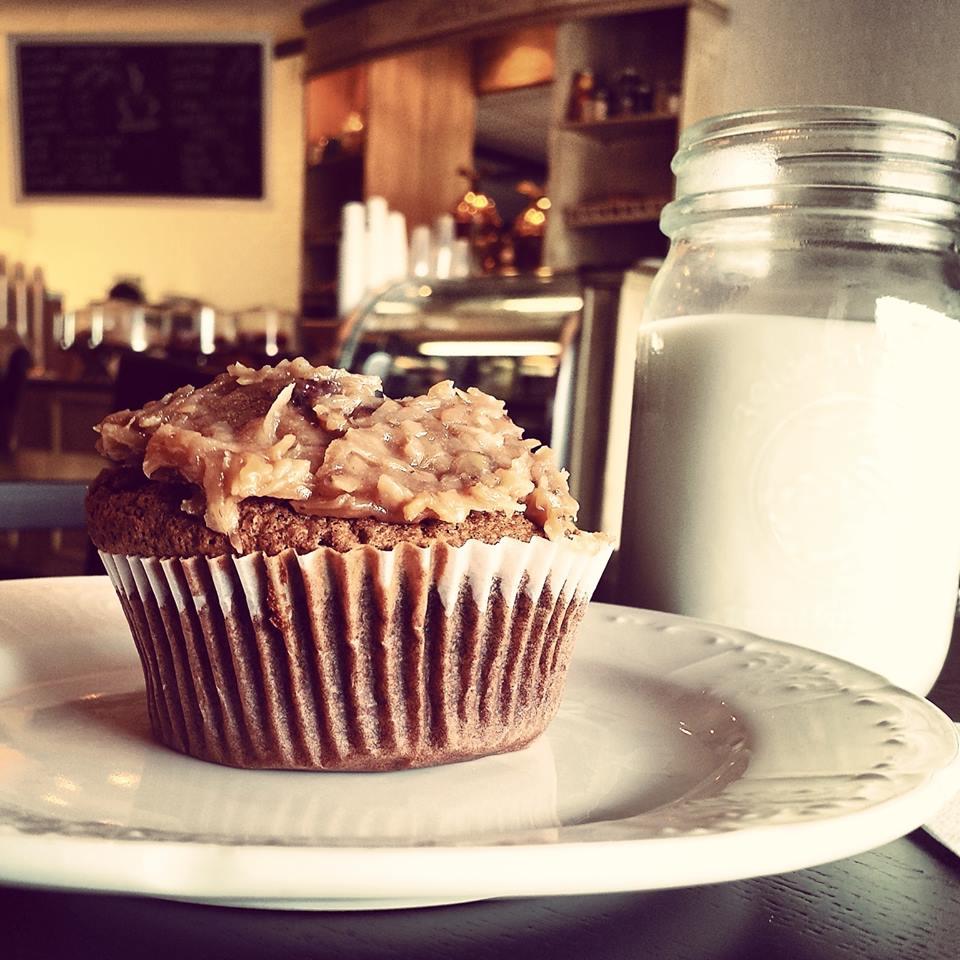 german chocolate cupcake